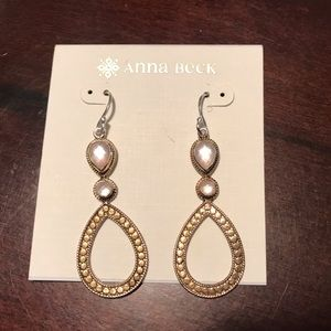 Anna Beck Silver/Gold Quartz Earrings